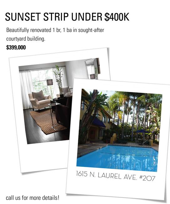 Sunset Strip under 400,000