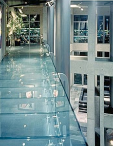 Floating Glass walk way